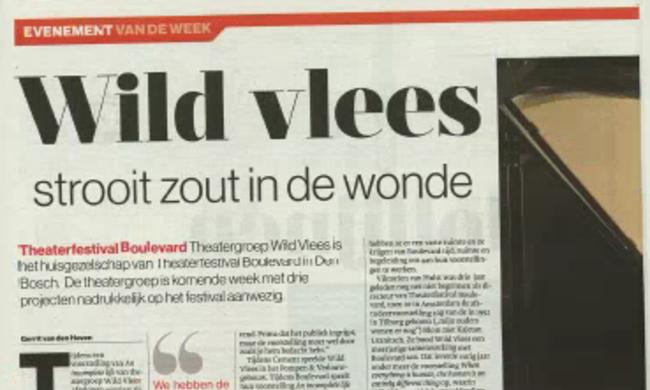 Eva Line de Boer en Wild Vlees in de krant